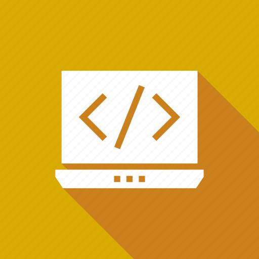 code, computer, notebook, screen icon