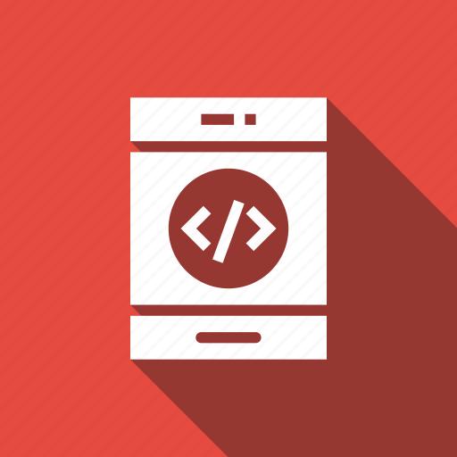 code, coding, mobile icon