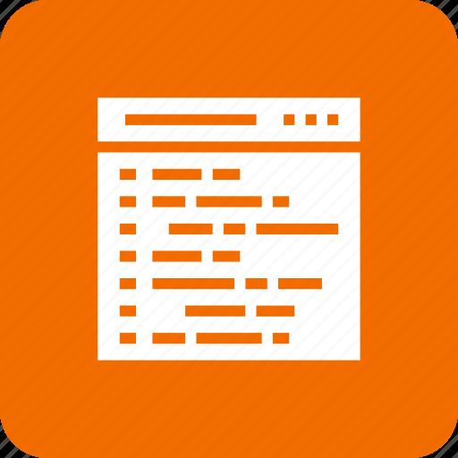 coding, design, html, ico, web icon