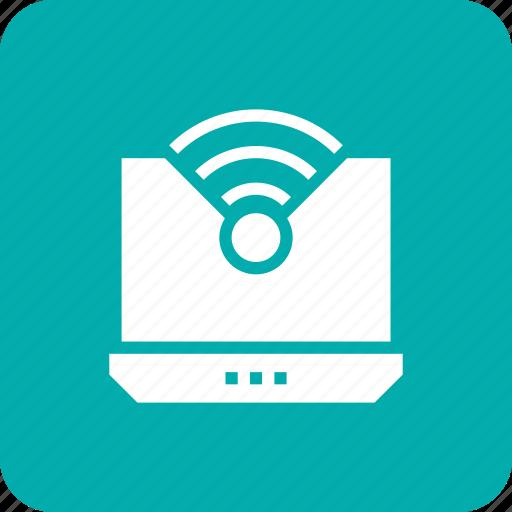computer, laptop, technology, wifi, wireless icon