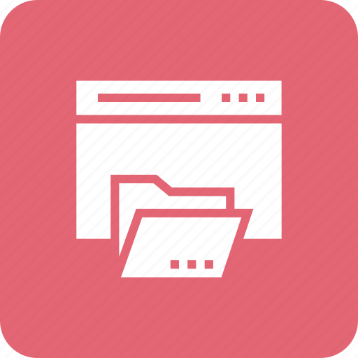 css, design, edit, folder, red, web icon