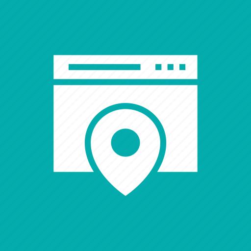 directions, internet, location, web icon