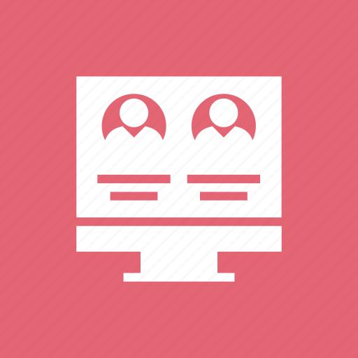 display, monitor, people, profile, screen, user icon