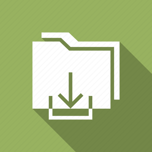 download, export, folder, transfer icon