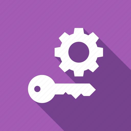 gear, key, skill, solve, strength icon
