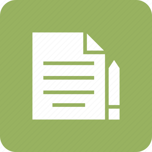 document, edit, file, page, paper, sheet, text icon