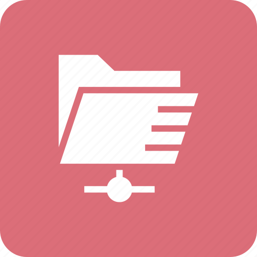 documents, folder, share, shared icon