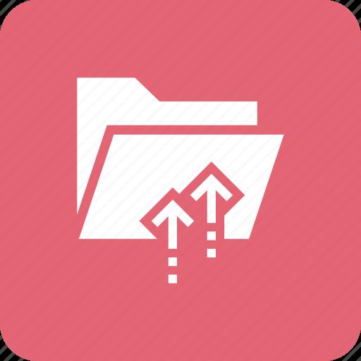 envelope, files, folder, interface, office, upload icon