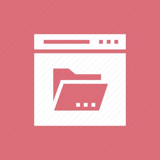folder, internet, online, web, webpage icon