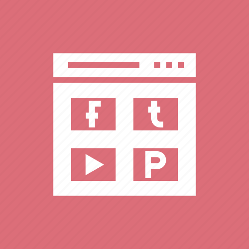 facebook, like, page, pintrest, profile, twetter, youtube icon