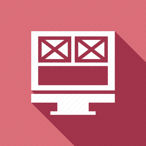 design, internet, monitor, responsive, web icon