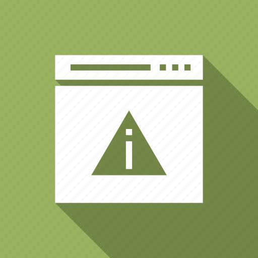 alert, warning, web, webpage icon