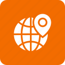 global, globe, location, world icon