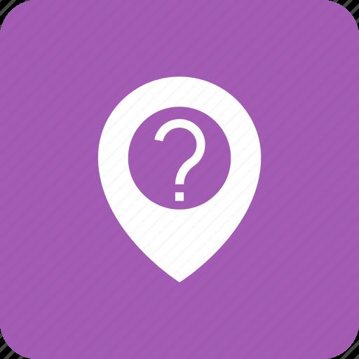 google, locate, location, mark, question icon