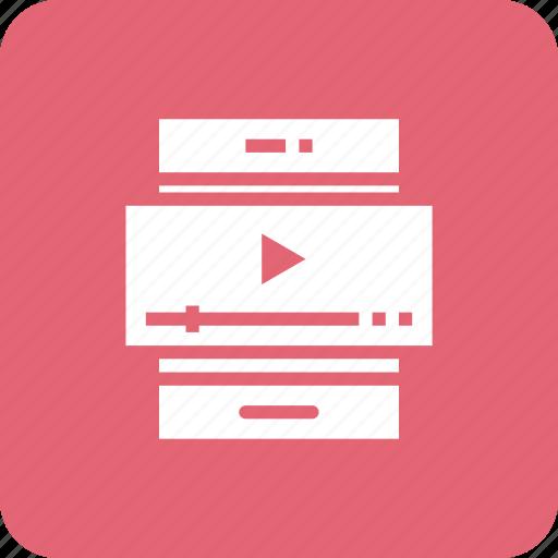media, mobile, smartphone, video icon