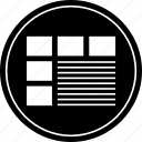 abstract, desgin, website, wireframe icon