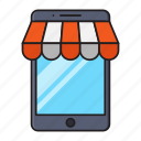 ecommerce, mobile, phone, shopping, store
