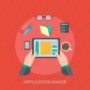 app, application, coding, concept, development, program, software icon