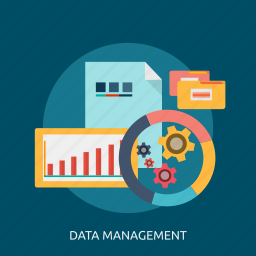concept, data, management, system icon