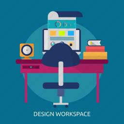computer, design, freelance, graphic, studio, workspace icon