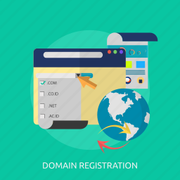 domain, layout, page, register, registration, web, website icon