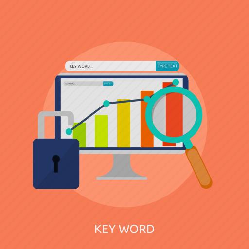 analytic, keyword, seo, tag, traffic icon