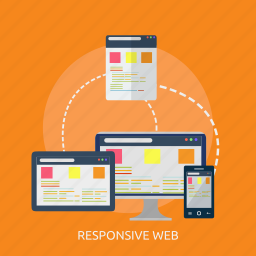 computer, domain, layout, page, responsive, web, webiste icon