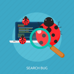 bug, buging, concept, error icon