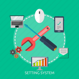 development, repaire, setting, setup, software, system icon