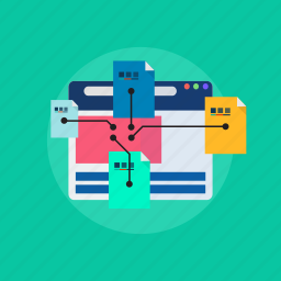 landing, laout, page, sitemap, template icon