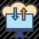cloud, computing, database, server