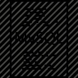 back, end, mysql, page, programming icon