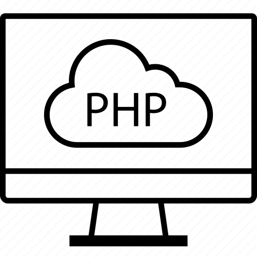back, cloud, end, php, programming icon