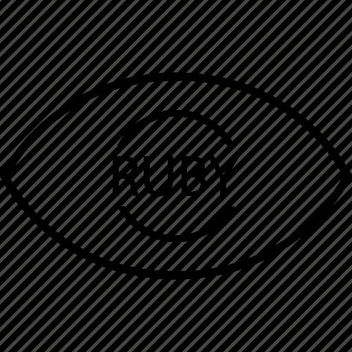 back, end, eye, programming, ruby icon