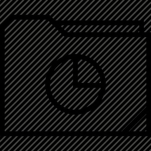 chart, folder, graphic icon