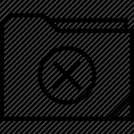 cross, folder, stop icon