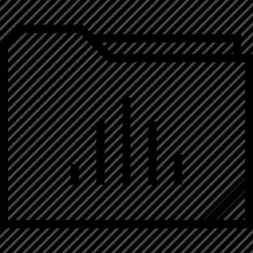 bars, data, folder, graphic icon