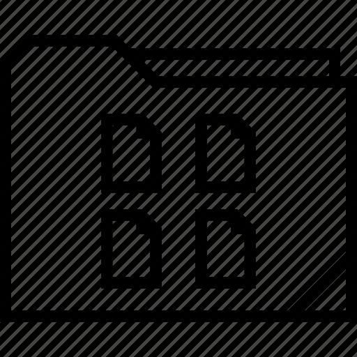 data, files, folder icon