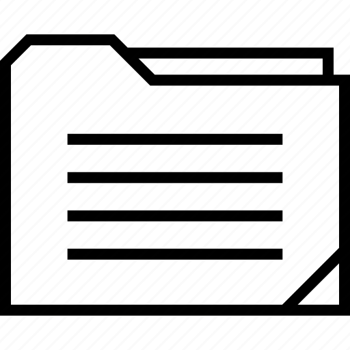 data, folder, lines, web icon