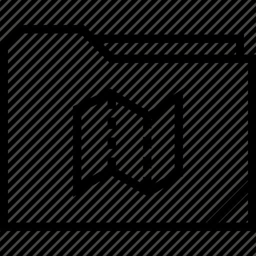 find, folder, locate, map icon