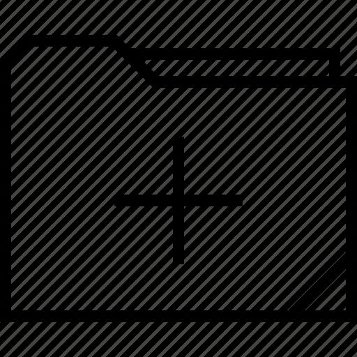 folder, more, plus icon