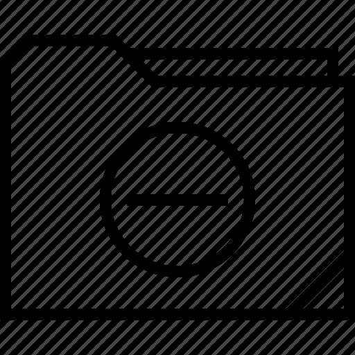 delete, folder, negative icon