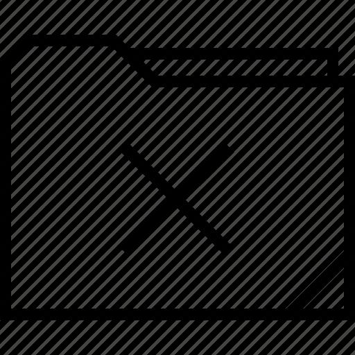 delete, folder, stop, x icon