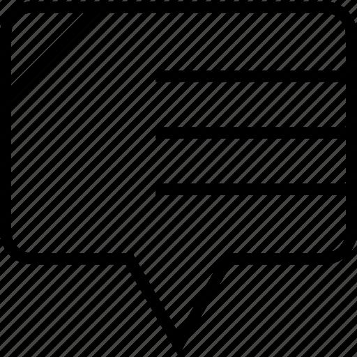 sms, talk, web icon