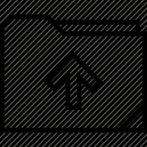 folder, point, up icon