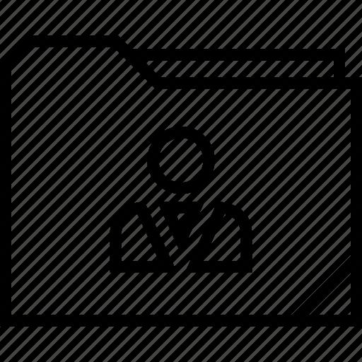 boss, folder, user icon