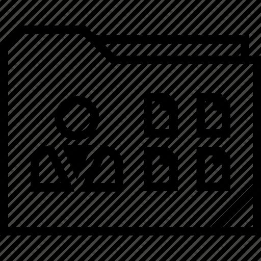 data, folder, user, web icon