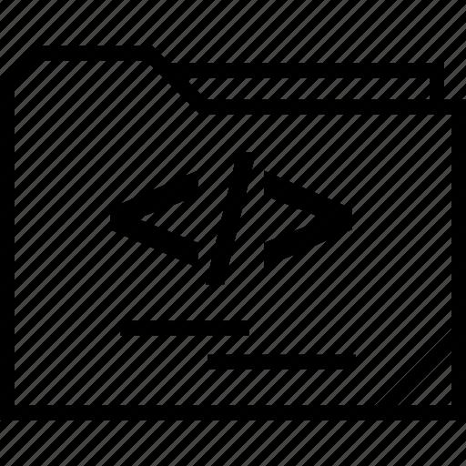 dev, folder, web icon