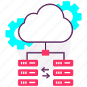 cloud server, data server, database, host, hosting, web icon