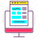 content, interface, keyboard, settings, web content, web development icon
